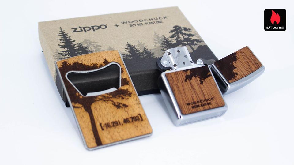 Zippo 49066 – Zippo WOODCHUCK USA Lighter & Bottle Opener Gift Set 6