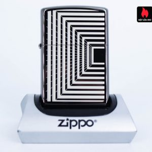 Zippo 49071 – Zippo Boxed Lines Design Black Ice 1