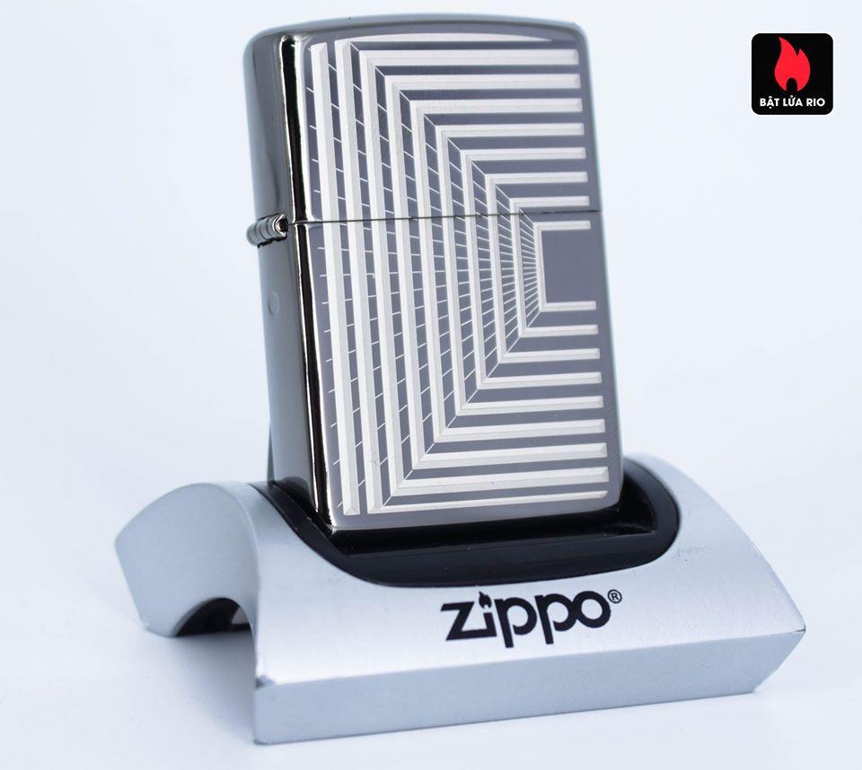 Zippo 49071 – Zippo Boxed Lines Design Black Ice 2