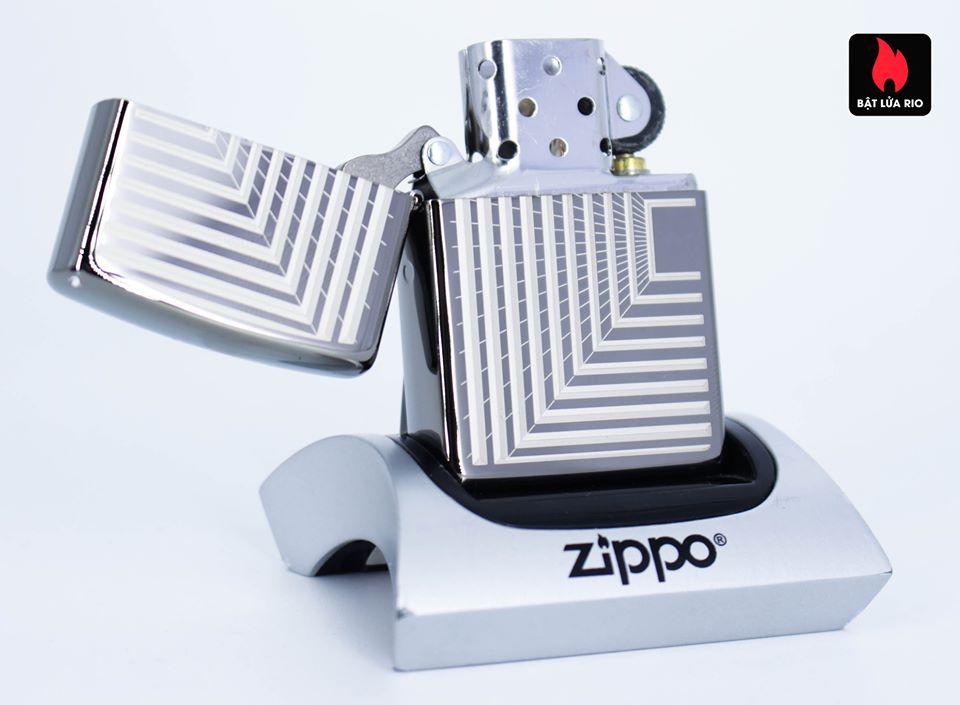 Zippo 49071 – Zippo Boxed Lines Design Black Ice 3