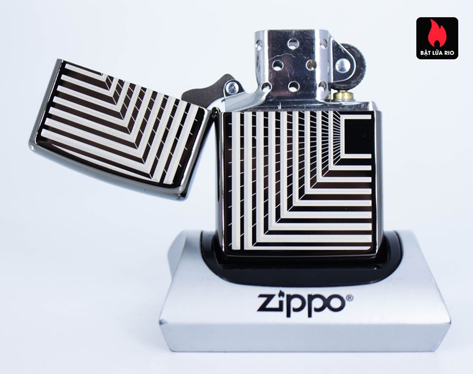 Zippo 49071 – Zippo Boxed Lines Design Black Ice 4