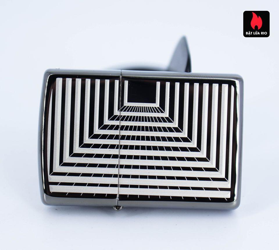 Zippo 49071 – Zippo Boxed Lines Design Black Ice 5