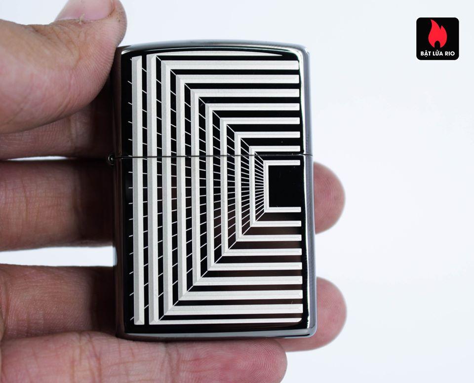Zippo 49071 – Zippo Boxed Lines Design Black Ice 7