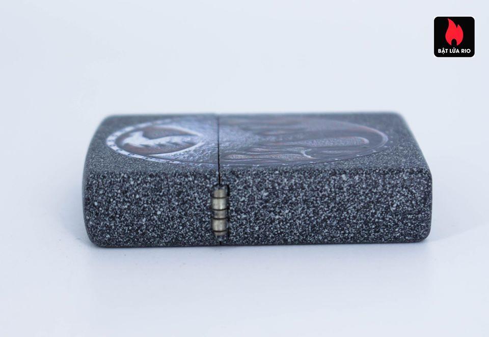 Zippo 49072 – Zippo Metal Dragon Shield Design Iron Stone 5