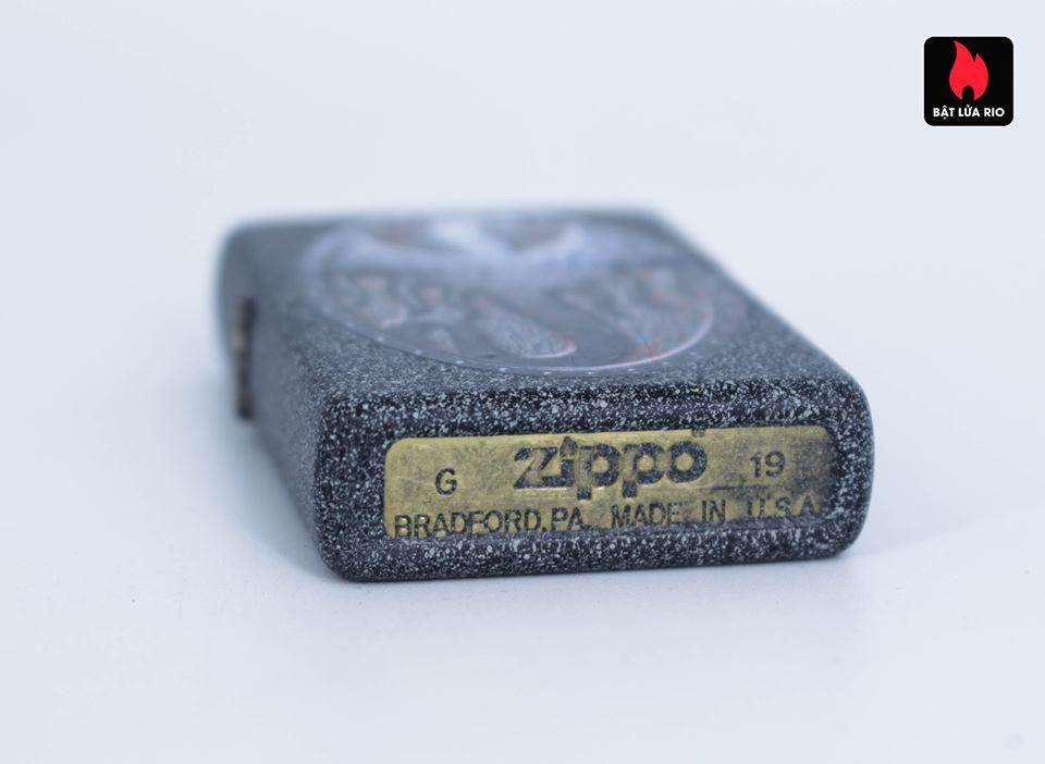 Zippo 49072 – Zippo Metal Dragon Shield Design Iron Stone 6