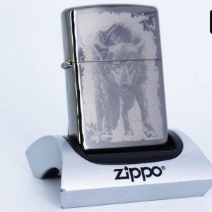 Zippo 49073 – Zippo Wolf Design Black Ice 1