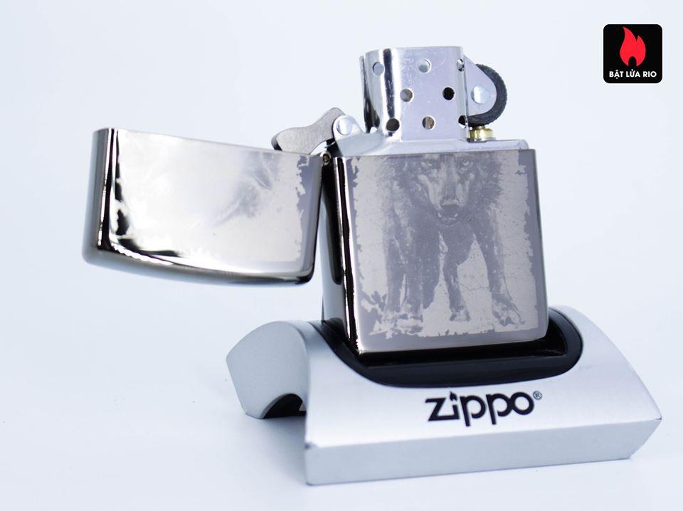 Zippo 49073 – Zippo Wolf Design Black Ice 2