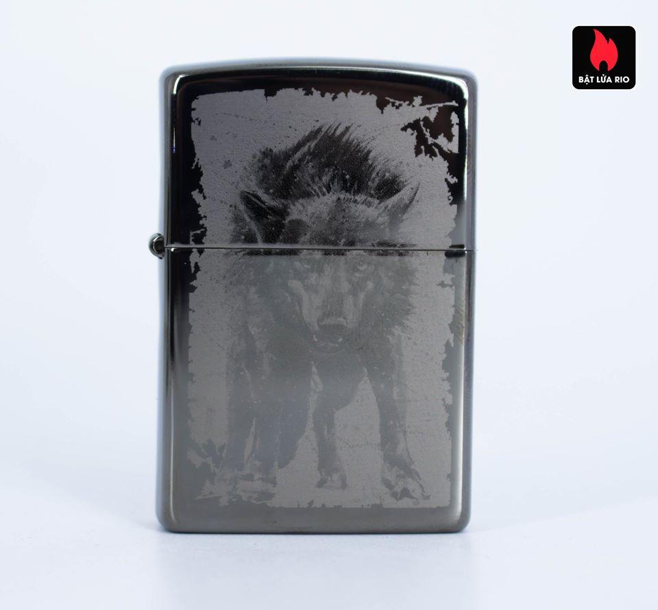 Zippo 49073 – Zippo Wolf Design Black Ice 5