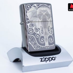 Zippo 49074 – Zippo Elephant Fancy Fill Design Black Ice 1