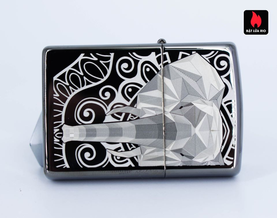 Zippo 49074 – Zippo Elephant Fancy Fill Design Black Ice 4