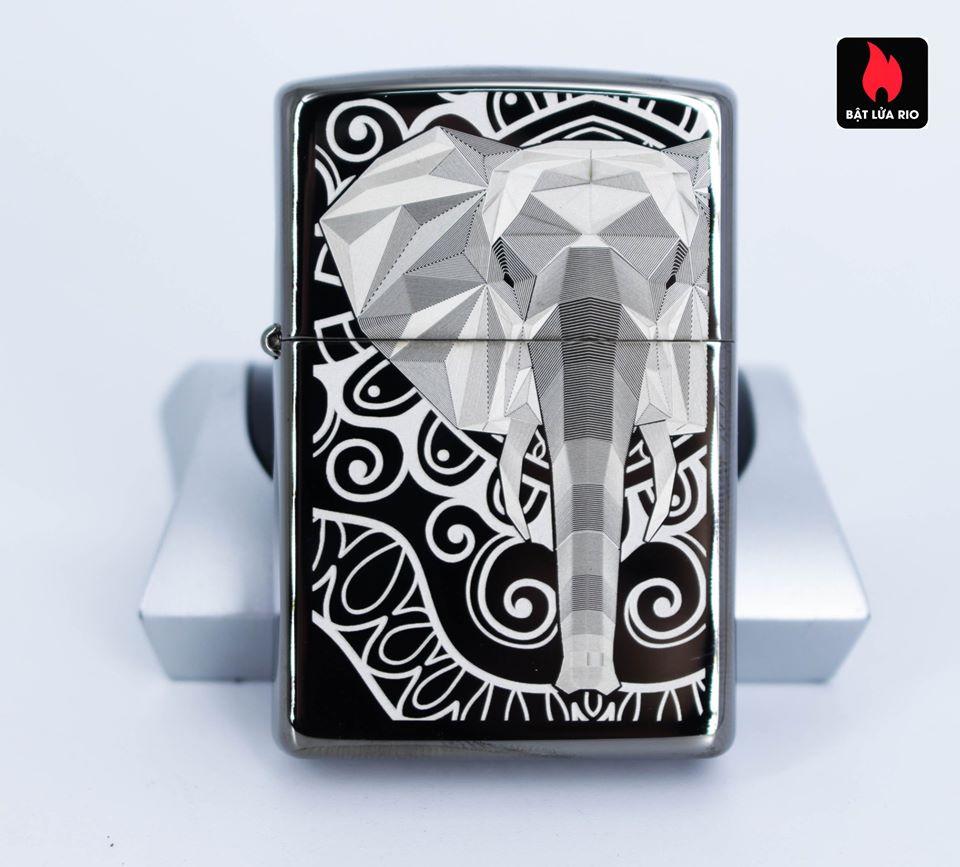 Zippo 49074 – Zippo Elephant Fancy Fill Design Black Ice 5