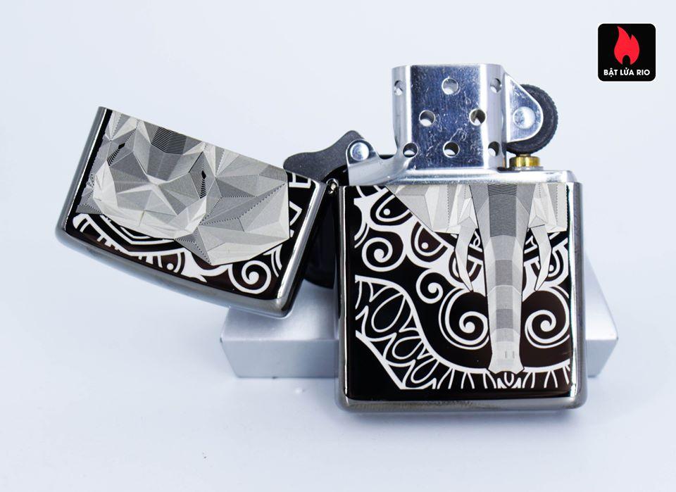 Zippo 49074 – Zippo Elephant Fancy Fill Design Black Ice 6
