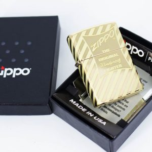 Zippo 49075 – Zippo Vintage Zippo Box Top High Polish Solid Brass 1