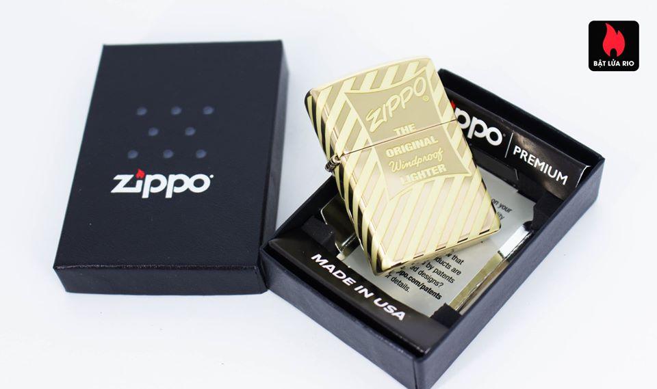 Zippo 49075 – Zippo Vintage Zippo Box Top High Polish Solid Brass 1