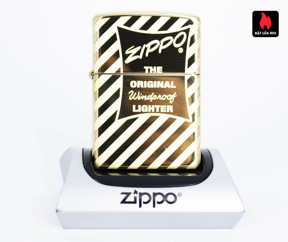 Zippo 49075 – Zippo Vintage Zippo Box Top High Polish Solid Brass 2