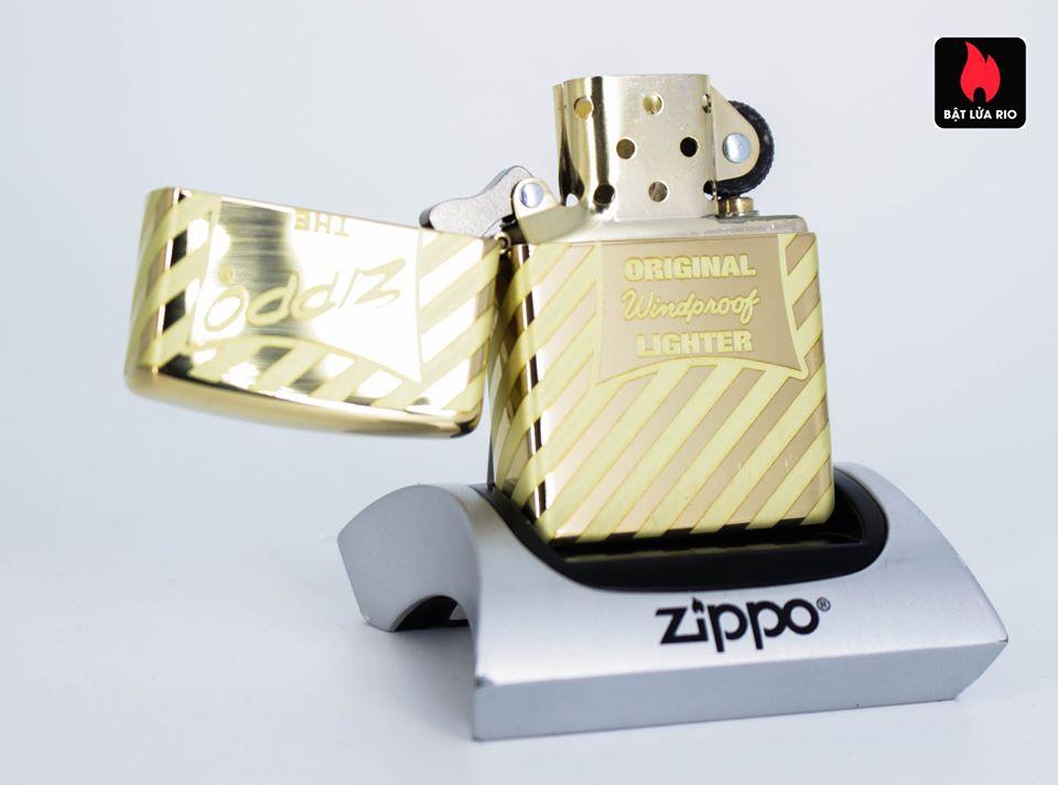 Zippo 49075 – Zippo Vintage Zippo Box Top High Polish Solid Brass 3