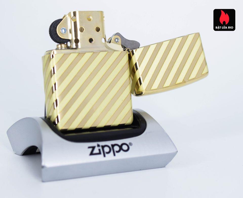 Zippo 49075 – Zippo Vintage Zippo Box Top High Polish Solid Brass 4