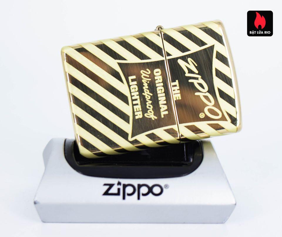 Zippo 49075 – Zippo Vintage Zippo Box Top High Polish Solid Brass 5