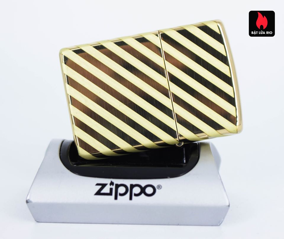 Zippo 49075 – Zippo Vintage Zippo Box Top High Polish Solid Brass 6