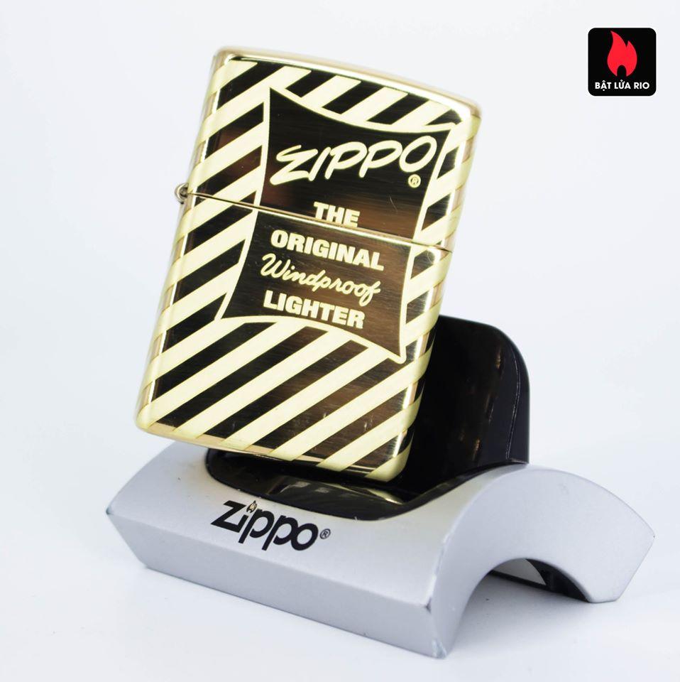 Zippo 49075 – Zippo Vintage Zippo Box Top High Polish Solid Brass 7