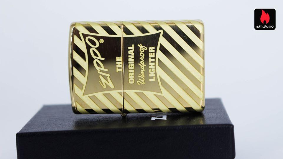 Zippo 49075 – Zippo Vintage Zippo Box Top High Polish Solid Brass 9
