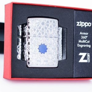 Zippo 49076 - Zippo Star Pattern Armor High Polish Chrome 1