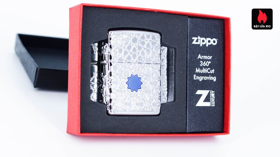 Zippo 49076 - Zippo Star Pattern Armor High Polish Chrome 1