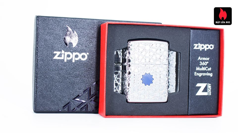 Zippo 49076 - Zippo Star Pattern Armor High Polish Chrome 2
