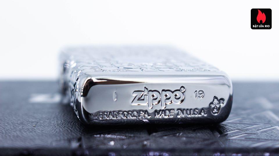 Zippo 49076 - Zippo Star Pattern Armor High Polish Chrome 4