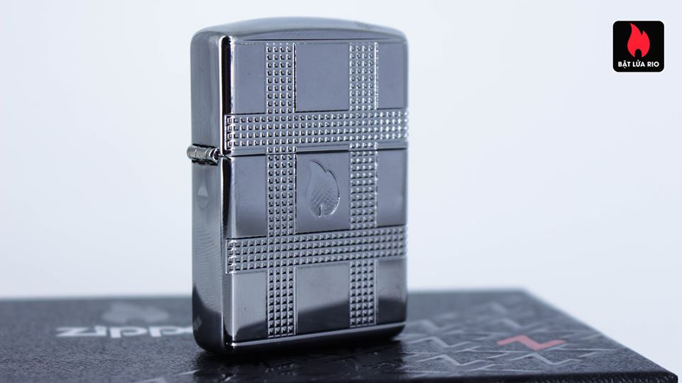 Zippo 49079 - Zippo Geometric Design Armor High Polish Chrome 6
