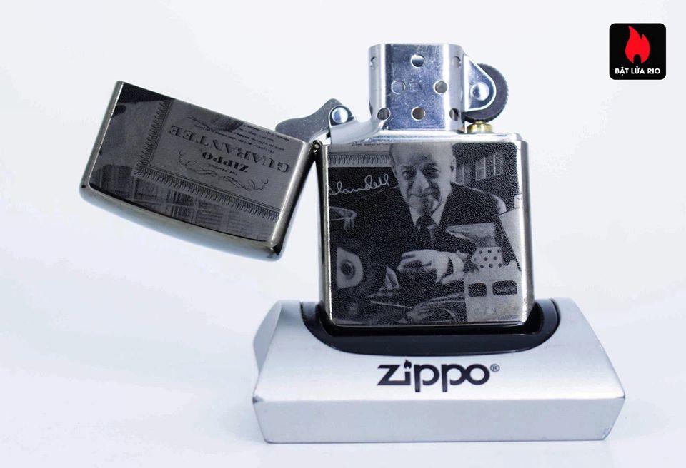 Zippo 49134 - Zippo GGB 125th Birthday Collectible Black Ice 8