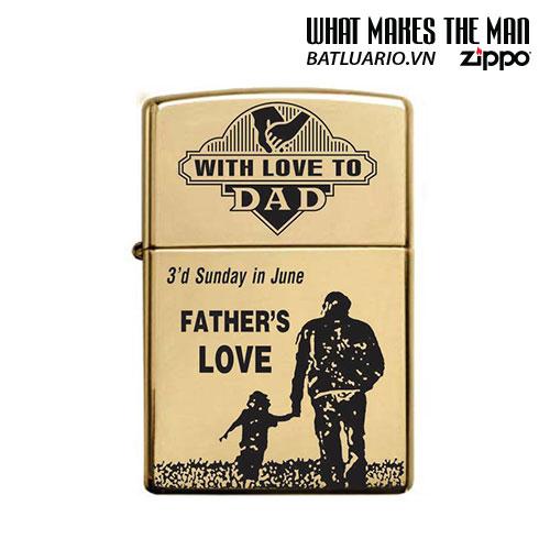 ZIPPO 254B KHẮC FATHER'S LOVE - ZIPPO 254B.FATHERLOVE