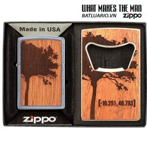 Zippo 49066 - Zippo WOODCHUCK USA Lighter & Bottle Opener Gift Set