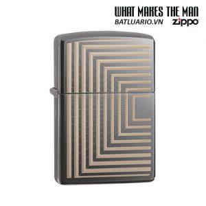Zippo 49071 - Zippo Boxed Lines Design Black Ice