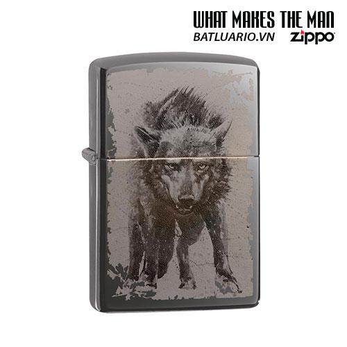 Zippo 49073 - Zippo Wolf Design Black Ice