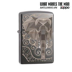 Zippo 49074 - Zippo Elephant Fancy Fill Design Black Ice