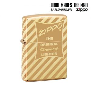 Zippo 49075 - Zippo Vintage Zippo Box Top High Polish Solid Brass
