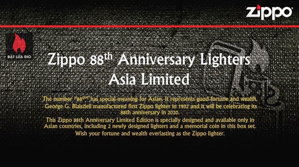 ZIPPO 88TH ANNIVERSARY – ZIPPO PHIÊN BẢN KỶ NIỆM 88 NĂM RA ĐỜI CỦA BẬT LỬA ZIPPO 1