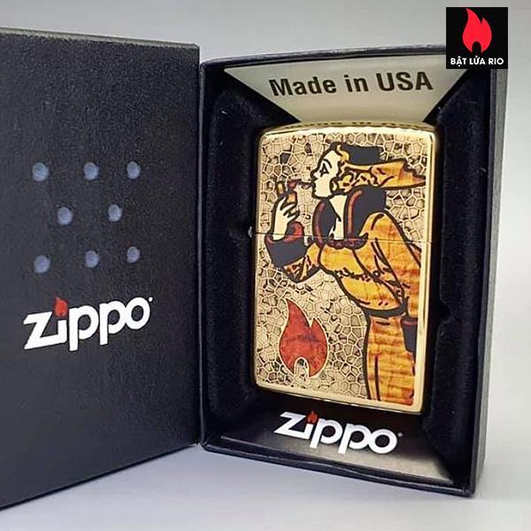 Zippo 254B Windy Fuzion Brass 5