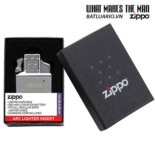 Ruột Zippo tia lửa điện Plasma - Rechargeable Lighter Insert - Double Arc - 65828 8