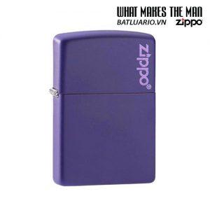 Zippo 237ZL - Zippo Purple Matte Zippo Logo