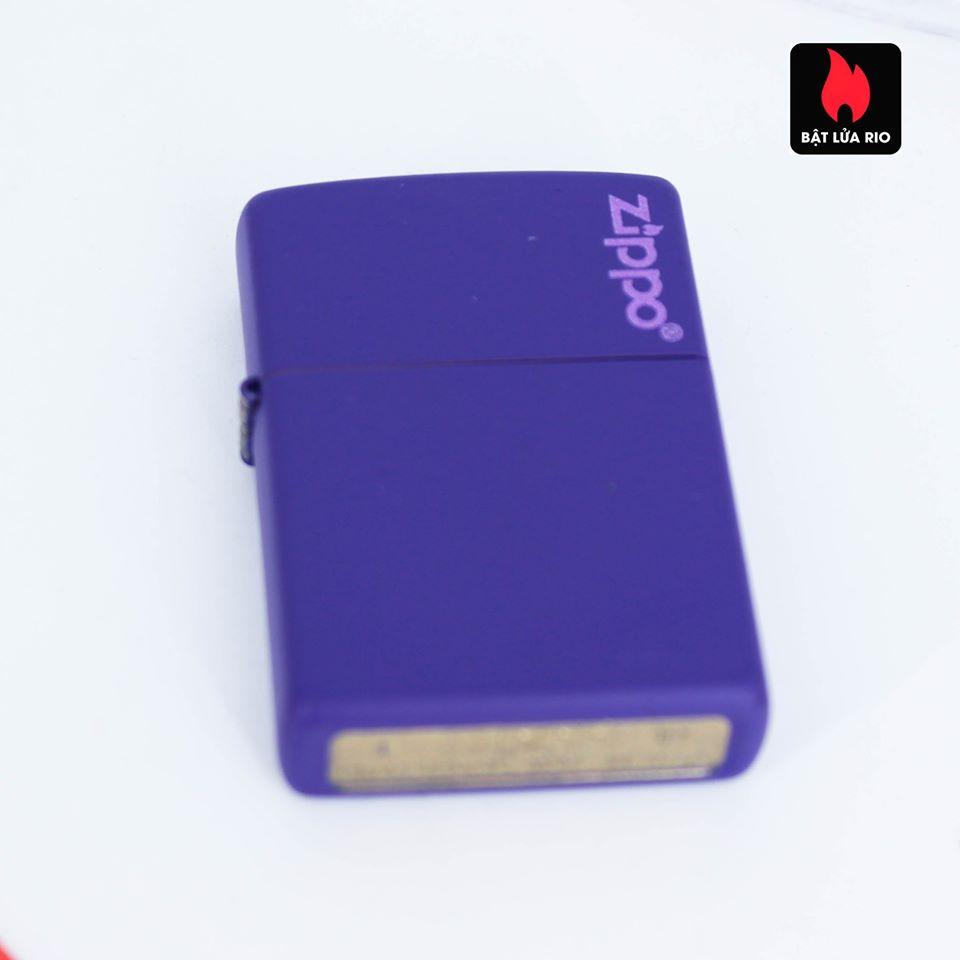 Zippo 237ZL - Zippo Purple Matte Zippo Logo 6
