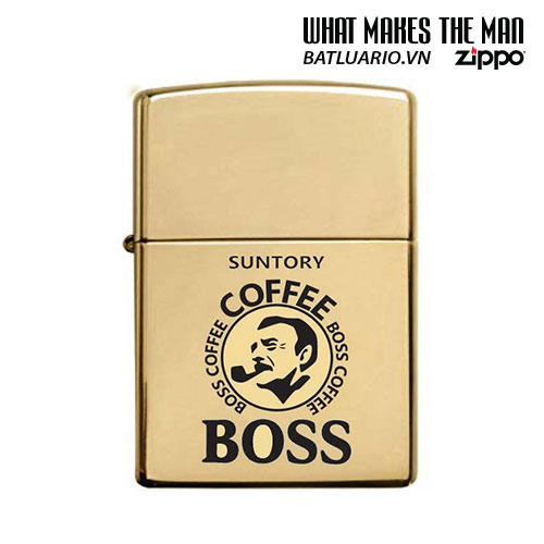 ZIPPO 254B KHẮC BOSS COFFEE – ZIPPO 254B.BOSSCF