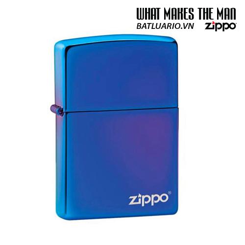 Zippo 29899ZL - Zippo High Polish Indigo Zippo Logo