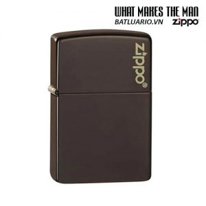 Zippo 49180ZL - Zippo Brown Zippo Logo