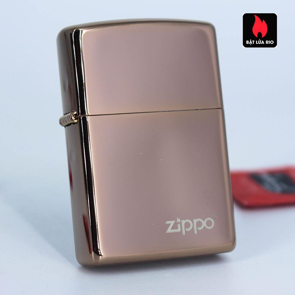 Zippo 49190ZL - Zippo High Polish Rose Gold Zippo Logo 1