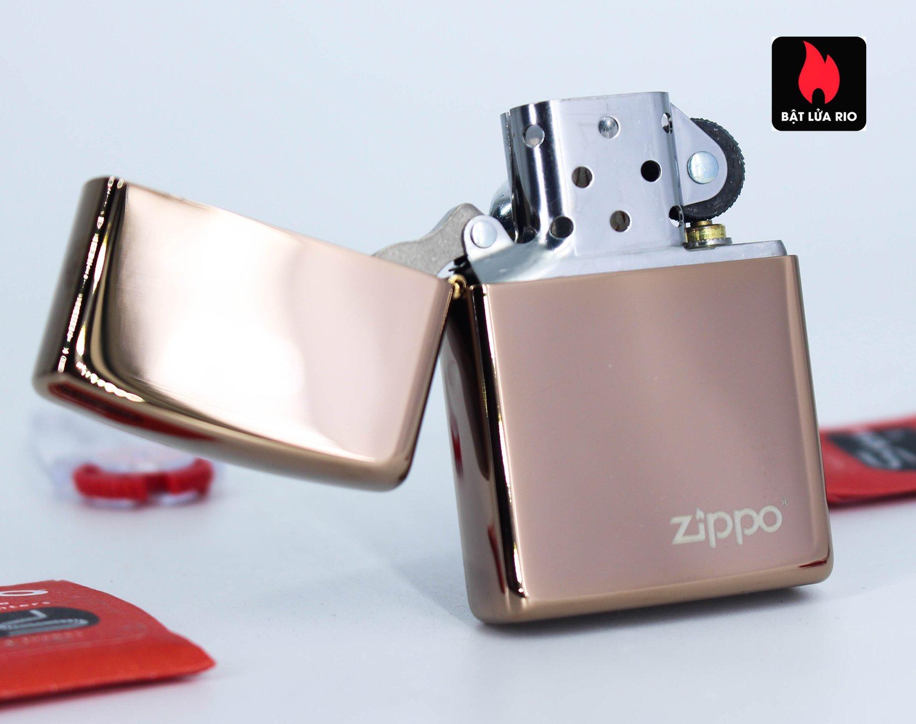 Zippo 49190ZL - Zippo High Polish Rose Gold Zippo Logo 2