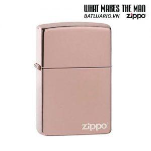 Zippo 49190ZL - Zippo High Polish Rose Gold Zippo Logo