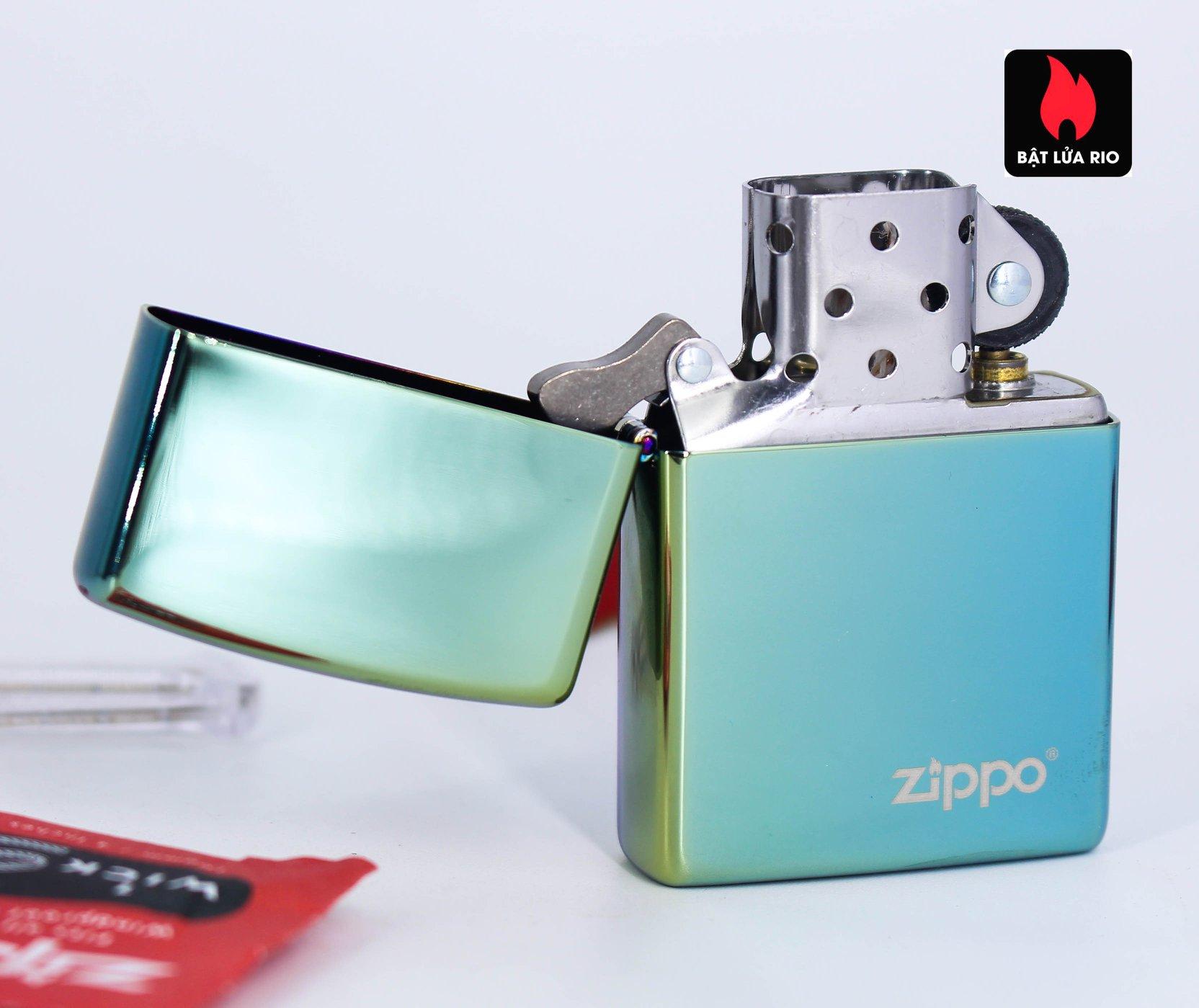 Zippo 49191ZL - Zippo High Polish Teal Zippo Logo 3
