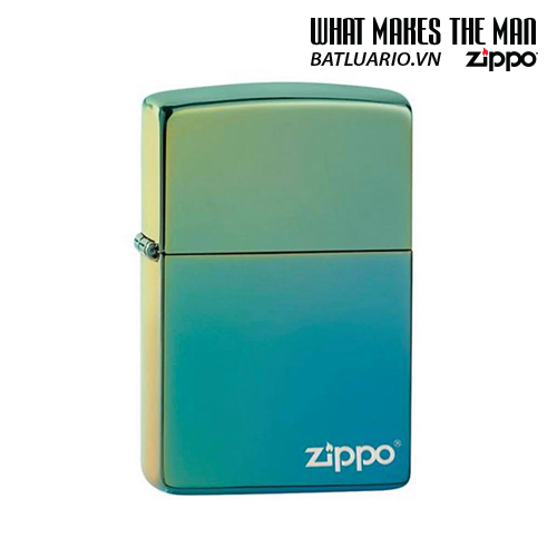Zippo 49191ZL - Zippo High Polish Teal Zippo Logo